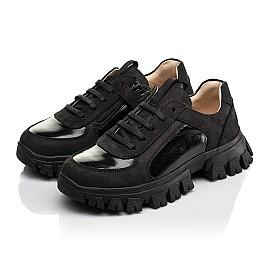 Детские кроссовки Woopy Fashion черные для девочек натуральный нубук размер 31-40 (8273) Фото 4