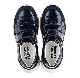 Детские кроссовки Woopy Fashion синие для девочек натуральная лаковая кожа и замша размер 26-36 (8279) Фото 5