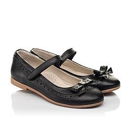 Детские туфли Woopy Fashion черные для девочек натуральная кожа размер 29-37 (8289) Фото 1