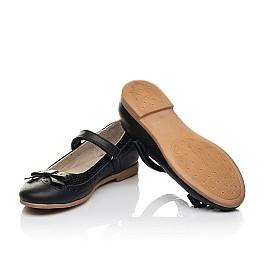 Детские туфли Woopy Fashion черные для девочек натуральная кожа размер 29-37 (8289) Фото 2