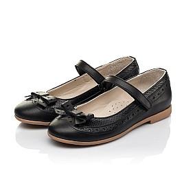 Детские туфли Woopy Fashion черные для девочек натуральная кожа размер 29-37 (8289) Фото 3