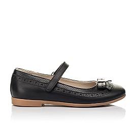 Детские туфли Woopy Fashion черные для девочек натуральная кожа размер 29-37 (8289) Фото 4