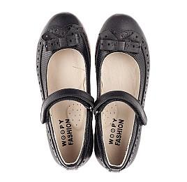 Детские туфли Woopy Fashion черные для девочек натуральная кожа размер 29-37 (8289) Фото 5