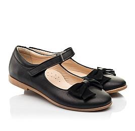 Детские туфли Woopy Fashion черные для девочек натуральная кожа размер 28-35 (8290) Фото 1