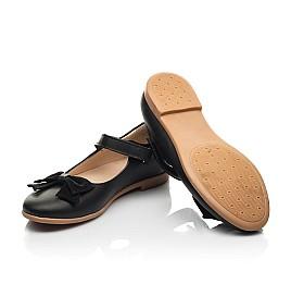 Детские туфли Woopy Fashion черные для девочек натуральная кожа размер 28-35 (8290) Фото 2