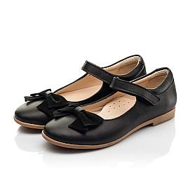 Детские туфли Woopy Fashion черные для девочек натуральная кожа размер 28-35 (8290) Фото 3
