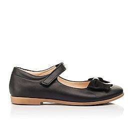 Детские туфли Woopy Fashion черные для девочек натуральная кожа размер 28-35 (8290) Фото 4