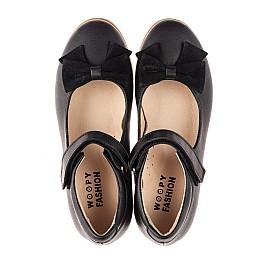 Детские туфли Woopy Fashion черные для девочек натуральная кожа размер 28-35 (8290) Фото 5