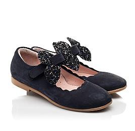 Детские туфли Woopy Fashion синие для девочек натуральный нубук размер 29-36 (8291) Фото 1