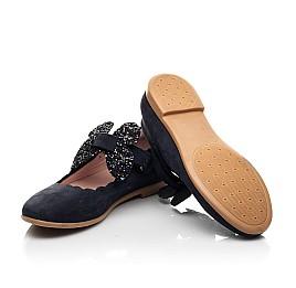 Детские туфли Woopy Fashion синие для девочек натуральный нубук размер 29-36 (8291) Фото 2