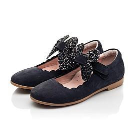 Детские туфли Woopy Fashion синие для девочек натуральный нубук размер 29-36 (8291) Фото 3
