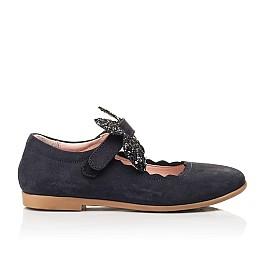 Детские туфли Woopy Fashion синие для девочек натуральный нубук размер 29-36 (8291) Фото 4