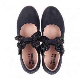 Детские туфли Woopy Fashion синие для девочек натуральный нубук размер 29-36 (8291) Фото 5