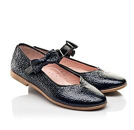 Детские туфли Woopy Fashion синие для девочек натуральная лаковая кожа размер 28-35 (8292) Фото 1