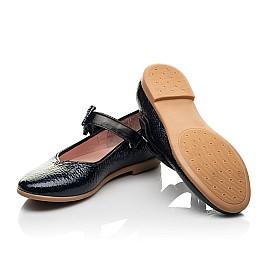 Детские туфли Woopy Fashion синие для девочек натуральная лаковая кожа размер 28-35 (8292) Фото 2