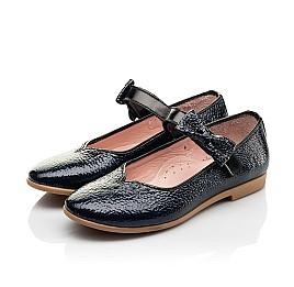 Детские туфли Woopy Fashion синие для девочек натуральная лаковая кожа размер 28-35 (8292) Фото 3