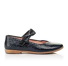 Детские туфли Woopy Fashion синие для девочек натуральная лаковая кожа размер 28-35 (8292) Фото 4