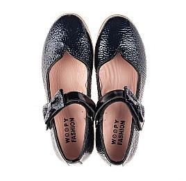 Детские туфли Woopy Fashion синие для девочек натуральная лаковая кожа размер 28-35 (8292) Фото 5
