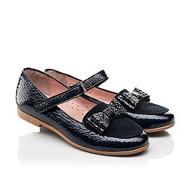 Детские туфли Woopy Fashion синие для девочек натуральная лаковая кожа размер 29-37 (8293) Фото 1