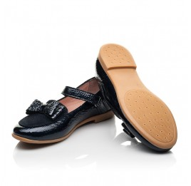 Детские туфли Woopy Fashion синие для девочек натуральная лаковая кожа размер 29-37 (8293) Фото 2