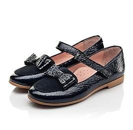Детские туфли Woopy Fashion синие для девочек натуральная лаковая кожа размер 29-37 (8293) Фото 3