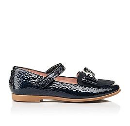 Детские туфли Woopy Fashion синие для девочек натуральная лаковая кожа размер 29-37 (8293) Фото 4