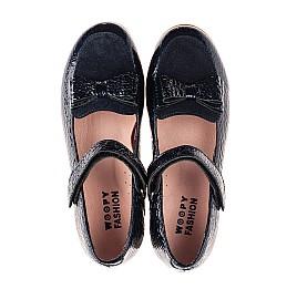 Детские туфли Woopy Fashion синие для девочек натуральная лаковая кожа размер 29-37 (8293) Фото 5