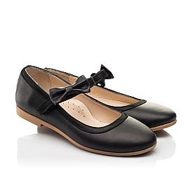 Детские туфли Woopy Fashion черные для девочек натуральная кожа размер 29-36 (8294) Фото 1