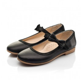 Детские туфли Woopy Fashion черные для девочек натуральная кожа размер 29-36 (8294) Фото 3