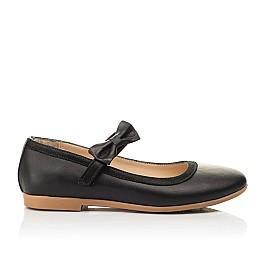 Детские туфли Woopy Fashion черные для девочек натуральная кожа размер 29-36 (8294) Фото 4
