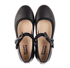 Детские туфли Woopy Fashion черные для девочек натуральная кожа размер 29-36 (8294) Фото 5