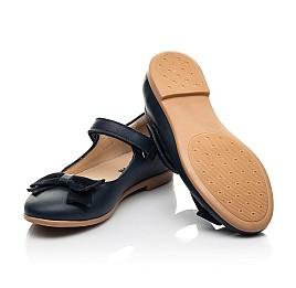 Детские туфли Woopy Fashion синие для девочек натуральная кожа размер 28-35 (8295) Фото 2