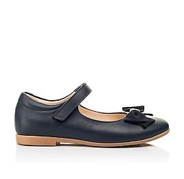 Детские туфли Woopy Fashion синие для девочек натуральная кожа размер 28-35 (8295) Фото 4