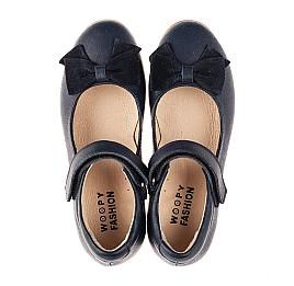 Детские туфли Woopy Fashion синие для девочек натуральная кожа размер 28-35 (8295) Фото 5