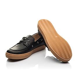 Детские кеды Woopy Fashion черные для мальчиков натуральная кожа размер 32-40 (8298) Фото 2