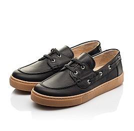 Детские кеды Woopy Fashion черные для мальчиков натуральная кожа размер 32-40 (8298) Фото 3