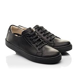 Детские кеды Woopy Fashion черные для мальчиков натуральная кожа размер 28-38 (8299) Фото 1