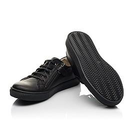 Детские кеды Woopy Fashion черные для мальчиков натуральная кожа размер 28-38 (8299) Фото 2