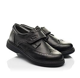 Детские туфли Woopy Fashion черные для мальчиков натуральная кожа размер 31-37 (8301) Фото 1