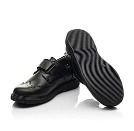 Детские туфли Woopy Fashion черные для мальчиков натуральная кожа размер 31-37 (8301) Фото 2