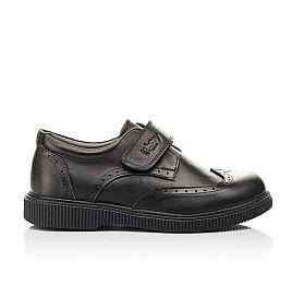 Детские туфли Woopy Fashion черные для мальчиков натуральная кожа размер 31-37 (8301) Фото 4