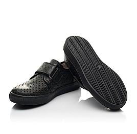 Детские кеды Woopy Fashion черные для мальчиков натуральная кожа размер 29-39 (8302) Фото 2