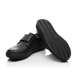 Детские кеды Woopy Fashion черные для мальчиков натуральная кожа размер 28-38 (8304) Фото 2