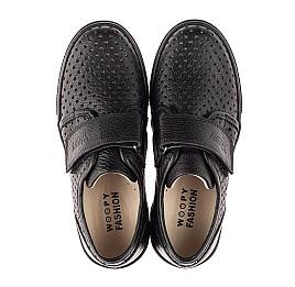 Детские кеды Woopy Fashion черные для мальчиков натуральная кожа размер 28-38 (8304) Фото 5