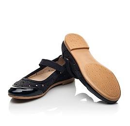 Детские туфли Woopy Fashion синие для девочек лаковая кожа/нубук размер 29-37 (8307) Фото 2