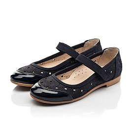 Детские туфли Woopy Fashion синие для девочек лаковая кожа/нубук размер 29-37 (8307) Фото 3