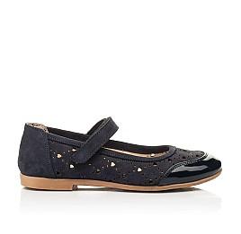 Детские туфли Woopy Fashion синие для девочек лаковая кожа/нубук размер 29-37 (8307) Фото 4