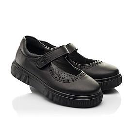 Детские туфли Woopy Fashion черные для девочек натуральная кожа размер 29-37 (8310) Фото 1