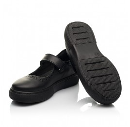 Детские туфли Woopy Fashion черные для девочек натуральная кожа размер 29-37 (8310) Фото 2