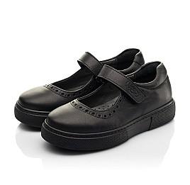 Детские туфли Woopy Fashion черные для девочек натуральная кожа размер 29-37 (8310) Фото 3